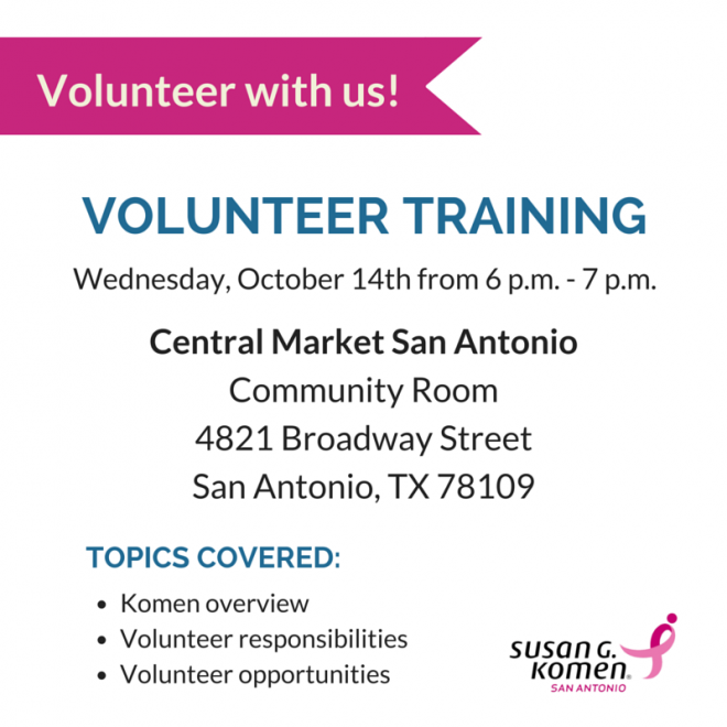 Komen Volunteer Training