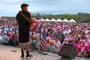 Steven Curd at the 2014 Race for the Cure